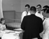 Philadelphia General Hospital, pediatric rounds, c. 1962