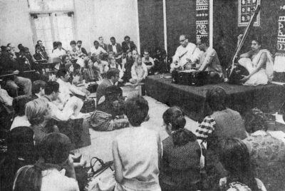 Indian music concert marking Gandhi's Birthday, 1969