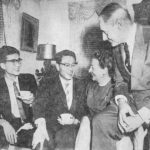 Korean students, both In-Ho scholars, hosted at the home of Philadelphia Mayor Richardson Dilworth, 1958