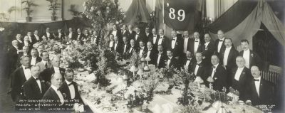 Medical Class of 1889, 25th reunion dinner, 1914