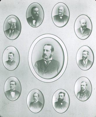 Medical faculty, c. 1885