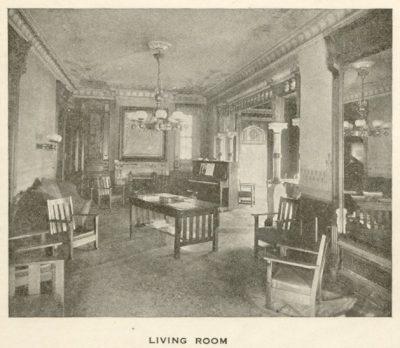 Potts mansion, interior, 1918