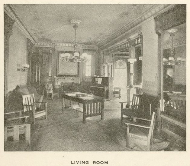 Potts mansion, interior, 1918