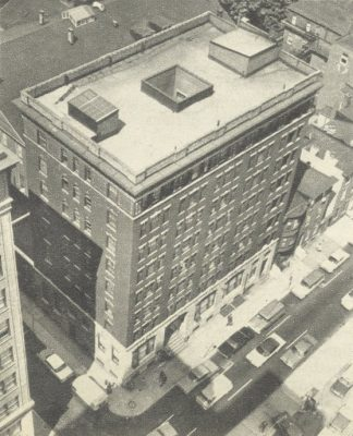 Whittier Hotel, previous home of International House, 1970