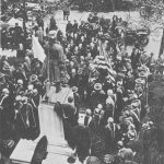 World War I: Conferring of degrees upon French leaders Joseph Joffre (1852-1931) and Rene Viviani (1862-1925), 1917