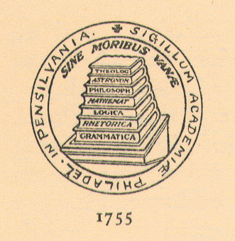Seal of the University of Pennsylvania, 1757-1780