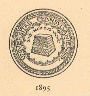 Seal of the University of Pennsylvania, 1848-1899