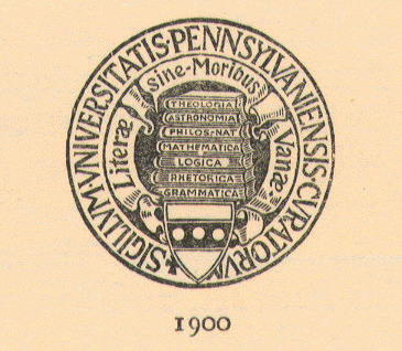 Seal of the University of Pennsylvania, 1900-1932