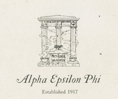 Alpha Epsilon Phi, sorority, insignia, 1922