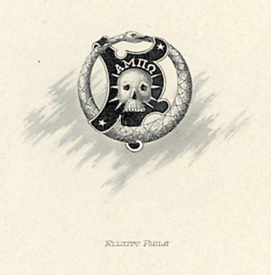 Alpha Mu Pi Omega, fraternity, insignia, 1902