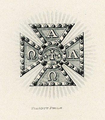 Alpha Tau Omega fraternity, insignia, 1905