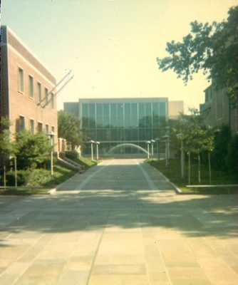 Locust Street, from 36th to 40th Streets, was closed in stages between 1959 and 1971 and gradually converted to the tree-lined, pedestrian walkway of today. The 25th Reunion Gift of the Class of 1938 enabled the University to construct Locust Walk between 36th and 37th Streets in 1964. George E. Patton was the landscape architect.