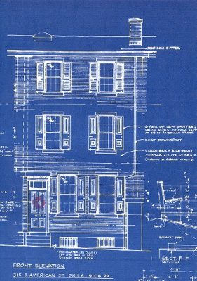 George and Penelope Batcheler, Blueprint Christmas card, 1970
