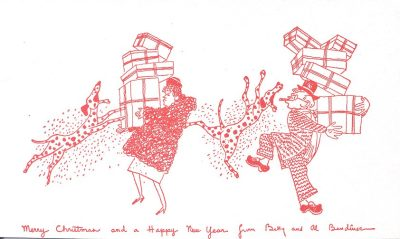 Alfred Bendiner, Christmas card, 1950