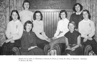 Bennett Club Board members, 1952
