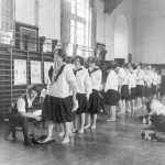 Bennett Hall, gymnasium, women's physical examinations, 1927