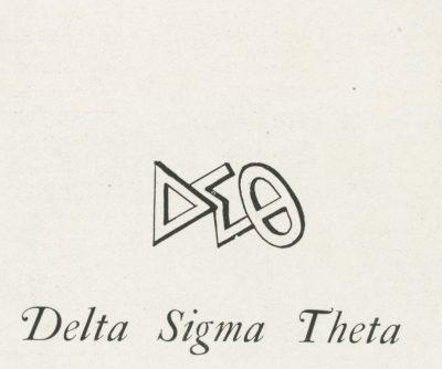 Delta Sigma Theta, sorority, insignia, 1922