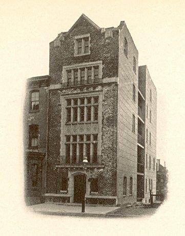 Delta Upsilon, fraternity house, 1915