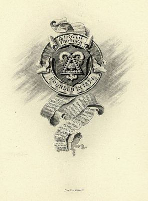 Delta Upsilon fraternity, insignia, 1901