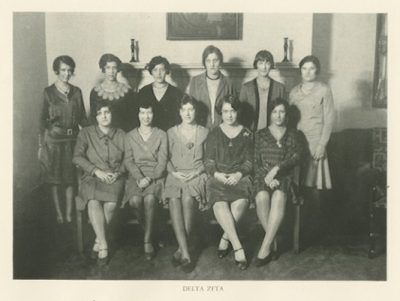 Delta Zeta, sorority, group photograph, 1929