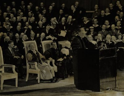 Franklin D. Roosevelt speaking at the Bicentennial of the University of Pennsylvania