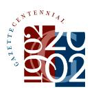 The Pennsylvania Gazette, centennial logo