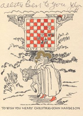 John Frederick Harbeson, Chess Christmas card, 1930