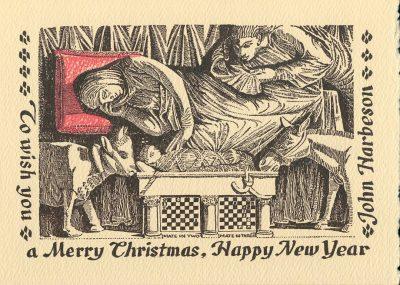 John Frederick Harbeson, Nativity Christmas card, 1930