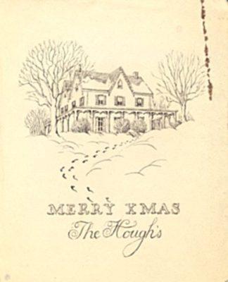 William Hough, Christmas Card, 1930