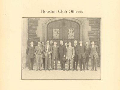 The Houston Club, officers, 1910