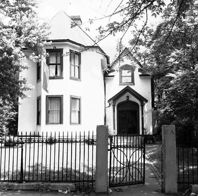 Kappa Alpha Society, Beta Chapter fraternity house, 3803 Locust Street, 1960