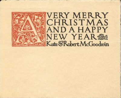 Robert McGoodwin, Christmas card, 1907