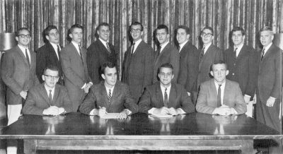 Student Government (men's) Legislative Branch members, group photograph, 1963