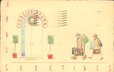 Robert Noble, Christmas card, 1930