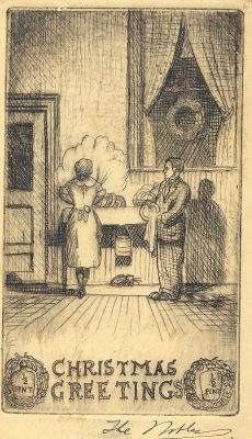 Robert Noble, Christmas card, 1931