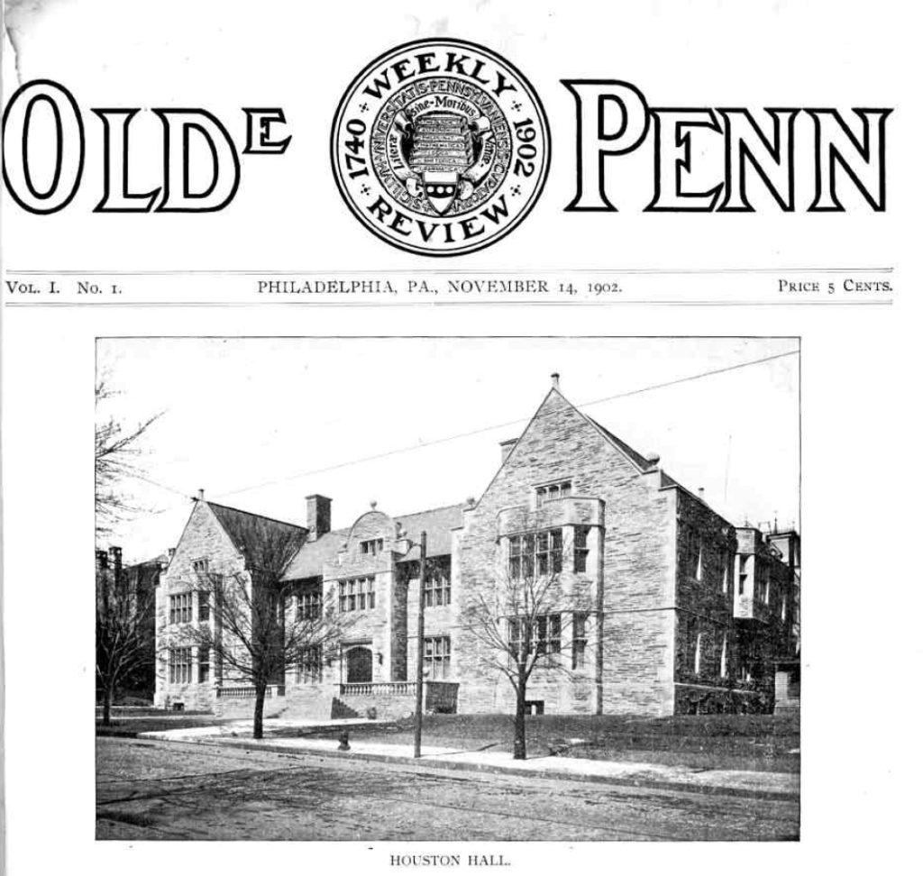 Olde Penn (Pennsylvania Gazette), Vol. 1 No. 1, 1902, cover