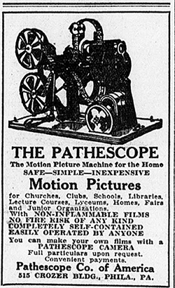 Pathescope Company advertisement