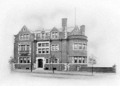 Phi Delta Theta, Zeta chapter fraternity house, 1905