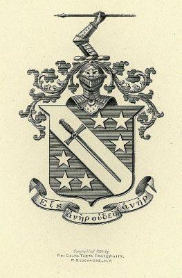 Phi Delta Theta, fraternity, insignia, 1901