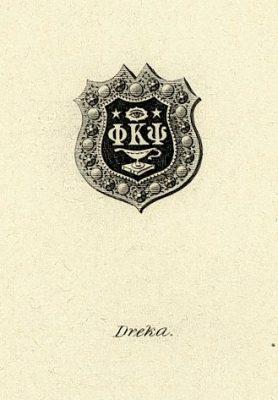 Phi Kappa Psi, Iota Chapter fraternity, insignia, 1901