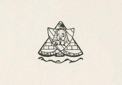 Phi Sigma Sigma, sorority, insignia, 1951
