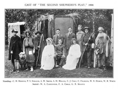 "Philomathan Society, ""The Second Shepherd's Day,"" 1908"
