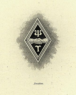 Psi Upsilon, fraternity, insignia, 1901