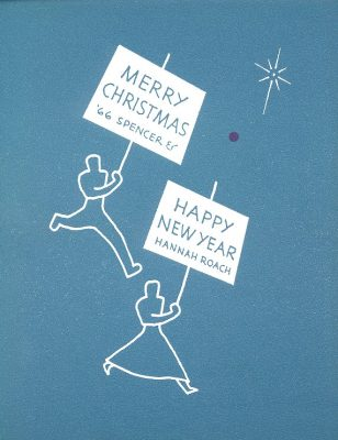 Hannah and Franklin Roach, Christmas Card, 1966