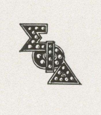 Sigma Phi Delta, sorority, insignia, 1926