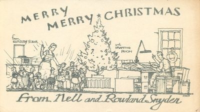 Jacob Snyder, Christmas card, 1949