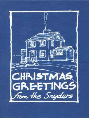Jacob Snyder, Christmas card, 1950