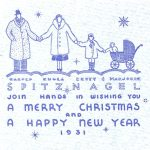 Harold Spitznagel, Christmas card, 1931