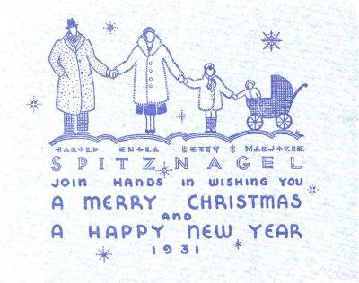 Harold Spitznagel, Christmas card, 1931