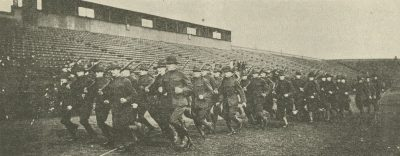 Student Battalion on the double quick, 1917